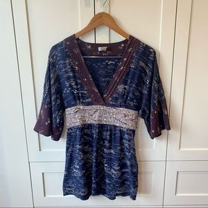 Wilfred 100% Silk Blouse with Bell Sleeves